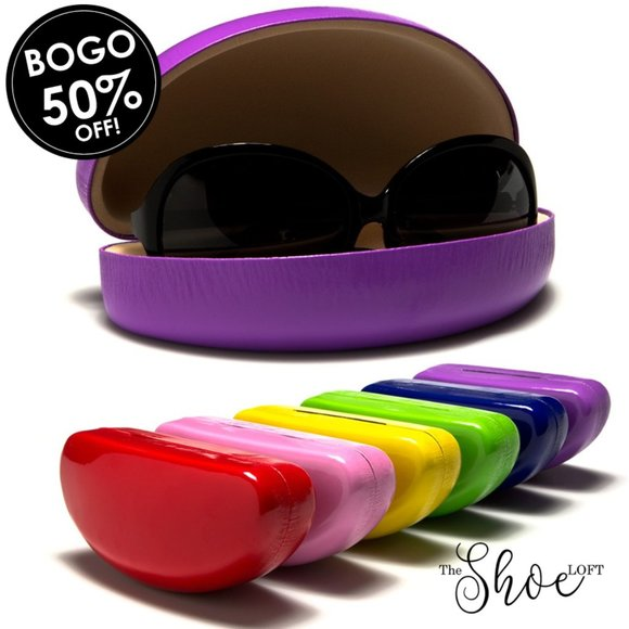Skittle Colored Hard Clam Shell Sunglasses Case